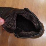Зимние классические кожанные ботинки. Фото 3.