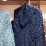 Пушистый джемпер(свитер) женский с горлышком. Фото 1. Москва.