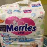 Подгузники merries newborn до 5кг. Фото 1.