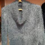 Пушистый джемпер(свитер) женский с горлышком. Фото 2. Москва.