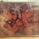 Картина стразами. клеопатра со львами. Фото 2.
