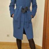 Зимнее кашемировое пальто с меховым воротником. Фото 2. Санкт-Петербург.