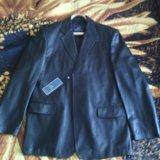 Кожаный пиджак мужской. Фото 1. Воронеж.