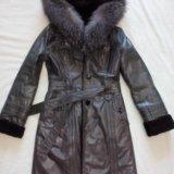 Кожаная дубленка-пальто. Фото 1. Сокур.
