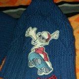 Набор шапка +шарф. Фото 1.