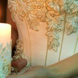 Золотое свадебное платье. Фото 4.
