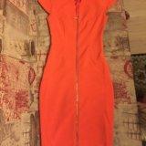 Оранжевое платье. Фото 1.