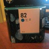 Картридж hp c4911a номер 82 cyan  голубой. Фото 1.