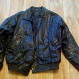 Кожаная куртка б/у. Фото 1.