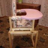 Детский стульчик+столик. Фото 2.