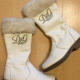 D & g зимние сапожки на меху оригинал. Фото 1.