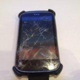 Телефон htc desire c. на запчасти. разбито стекло. Фото 1.