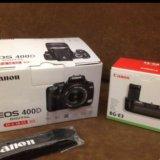 Canon 400 kit плюс bg-e3 рукоять и много допов. Фото 2.