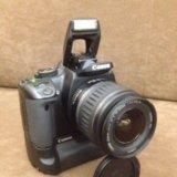 Canon 400 kit плюс bg-e3 рукоять и много допов. Фото 1.