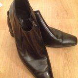 Туфли мужские кожаные,45. Фото 1.