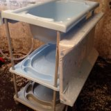 Ванночка для купания с пеленальным столиком. Фото 2.