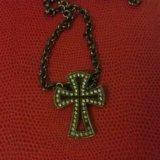 Украшение крестик. Фото 1.