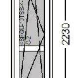 Дверь на балкон везде стекло rehau sib 640x2230. Фото 1.