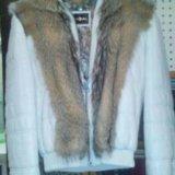 Куртка новая натур.кожа с мехом. Фото 2.