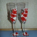 Свадебные бокалы. Фото 1.
