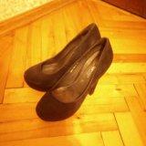 Туфли  новые синяя замша. Фото 2.