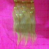 Натуральные пряди волос на заколках. Фото 2.