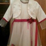 Нарядное детское платье с пиджаком. Фото 1.