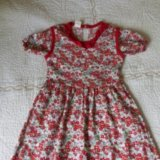 Платье новое, хлопок ,р. 110 см. Фото 1.