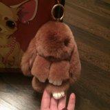 Брелок-кролик, натуральный мех. Фото 2. Москва.