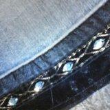 Джинсовые юбка с красивой отделкой. Фото 2.