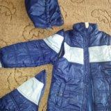 Куртка 2 в 1 демисез 128. Фото 3.