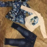 Куртка + джинсы + водолазка новые. Фото 1.