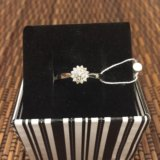 Кольцо серебряное с цирконом. Фото 1. Химки.