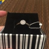Кольцо серебряное с цирконом. Фото 3. Химки.