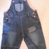 Полукомбинезоны джинсовый и вельветовый.. Фото 2.