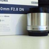 Sigma af 60mm f/2.8 dn art micro 4/3. Фото 1.