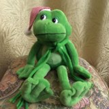 Игрушка мягкая, говорящий лягушонок. Фото 1.