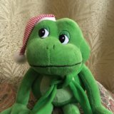 Игрушка мягкая, говорящий лягушонок. Фото 2.