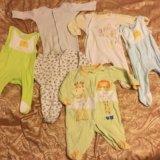 Вещи на новорожденного 0 -3 месяца боди комбинезон. Фото 1. Москва.