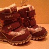 """Зимние ботинки """"капика"""" (сиреневый). Фото 3."""