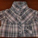 Мегамодная блузка рубашка в клетку тренд. Фото 1.