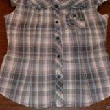 Мегамодная блузка рубашка в клетку тренд. Фото 2.