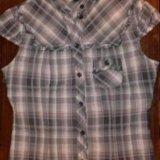 Мегамодная блузка рубашка в клетку тренд. Фото 3.
