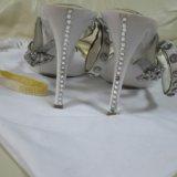 Босоножки  made in italy swarovski. Фото 3.