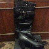 Новые кожаные сапоги. Фото 1.