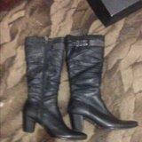 Новые кожаные сапоги. Фото 2.