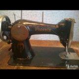 Ножная швейная машинка, со столом и станиной. Фото 1.