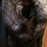 Пальто кожаное. Фото 1.