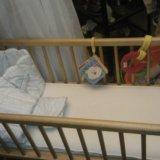 Кроватка люлька, матрац, бортики, постель. белье. Фото 4.