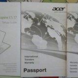 Новый ноутбук acer aspire es 17 , es1-731-c8wn. Фото 2.